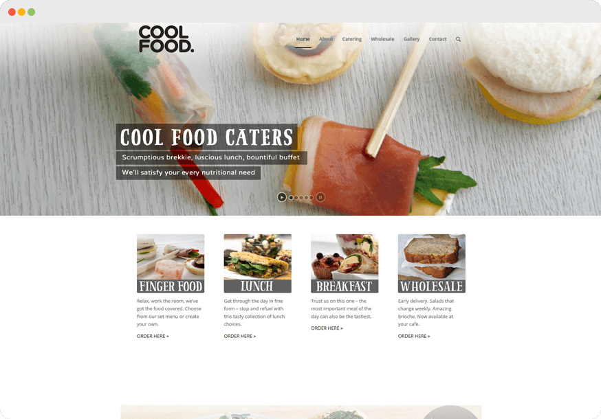 Cool Food website